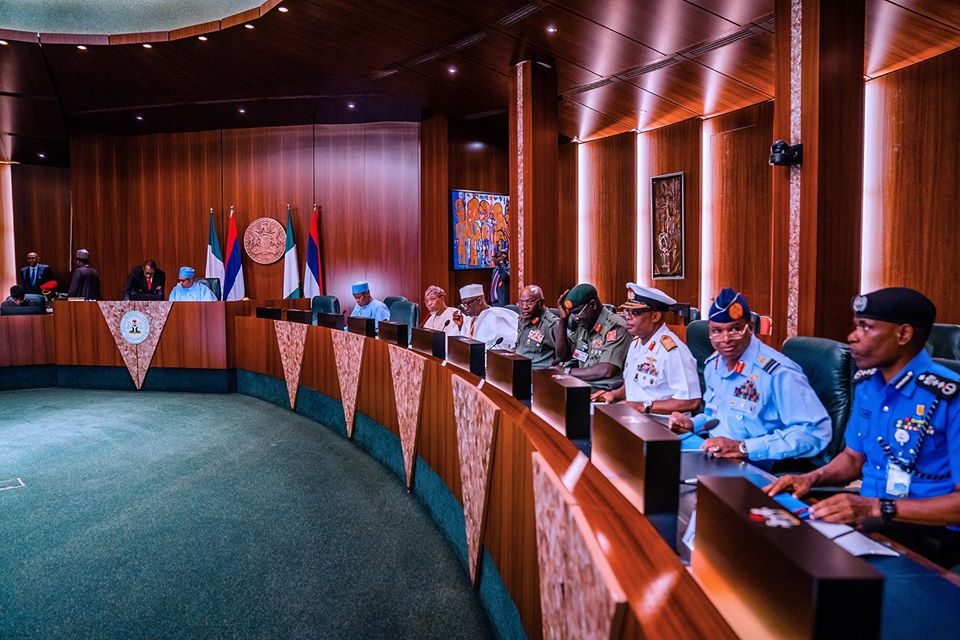 President Buhari Conducts Meeting Over Security