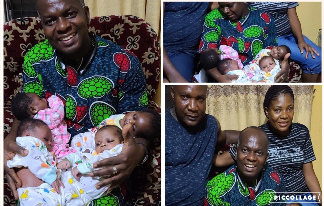 Nigerian Give Birth To Quadruplets Following 16 Years Of Marriage