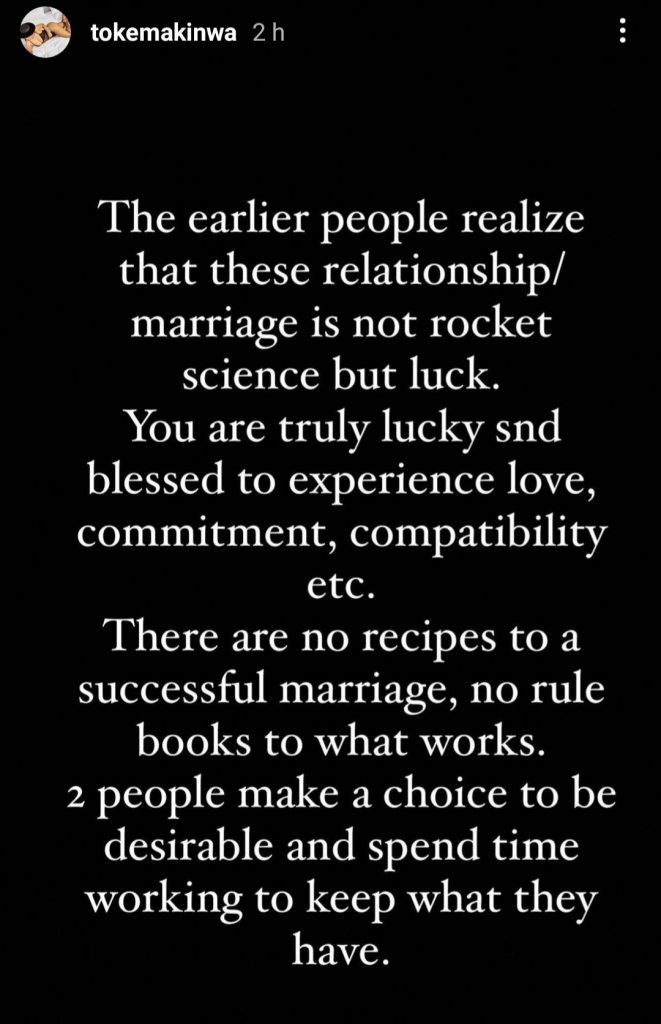 Toke Mokinwa Marriage